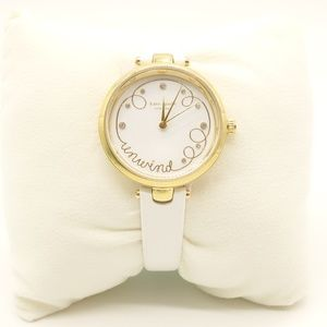 NWT KATE SPADE Holland Unwind White Leather Watch